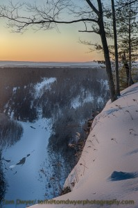 Pre-sunrise at the Archery Overlook.