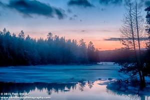 An Adirondack Winter sunset